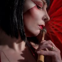 Japanese style inspired portrait make-up