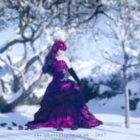 red-dress-snow