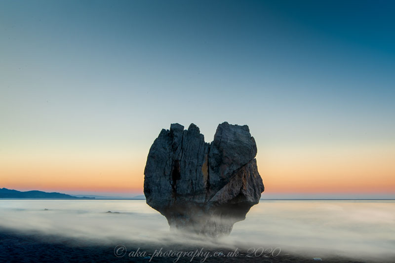 Love rock - The photo we took at sunrise, a long exposure. The location in Preveli beach, Crete